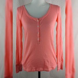 💀 Victoria's Secret Peach Thermal Top Long Sleeve